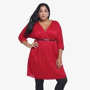 Torrid Red Lace Dress